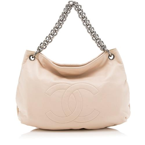 Chanel Leather CC Chain Hobo