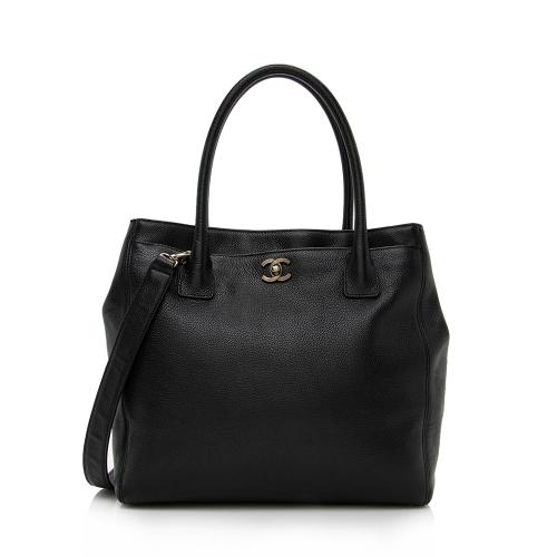 Chanel Leather Cerf Classic Executive Tall Tote