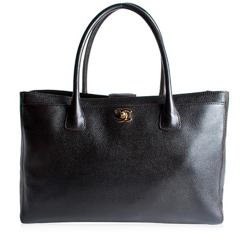 Chanel Leather Cerf Shopper Tote