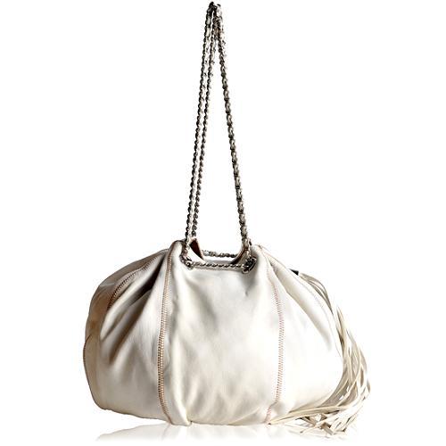 Chanel Leather Drawstring Shoulder Handbag