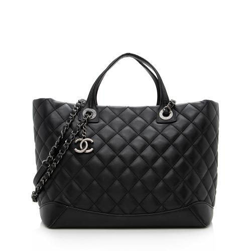 Chanel Leather Easy Shopping Tote