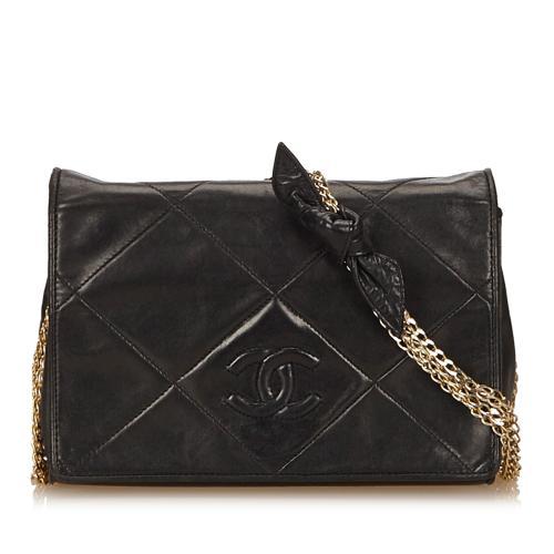 Chanel Leather Flap Chain Shoulder Bag
