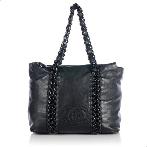 Chanel Leather Modern Chain Large Tote