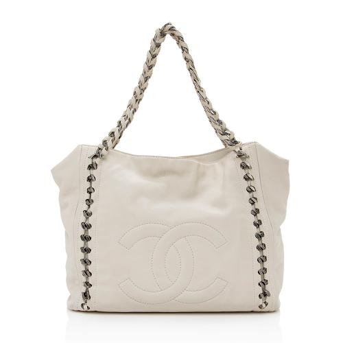 Chanel Leather Modern Chain Tote