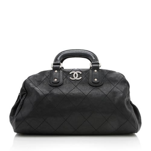 Chanel Leather Outdoor Ligne Large Bowler Satchel