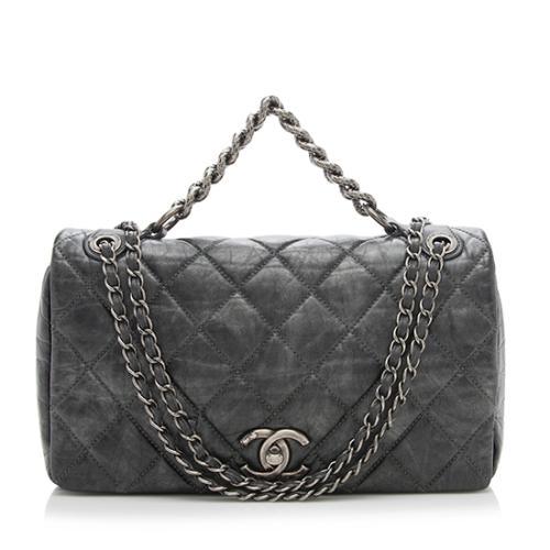 Chanel Leather Pondichery Medium Flap Bag