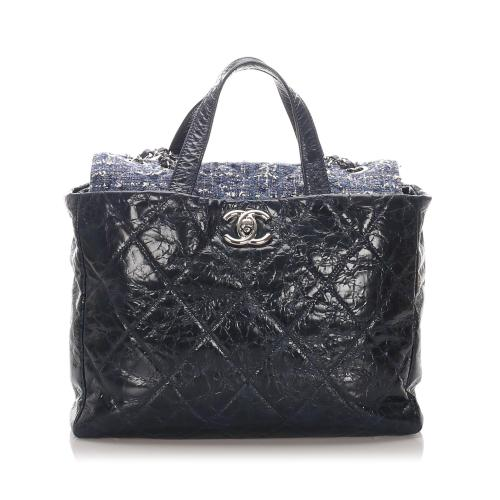 Chanel Leather Tweed Portobello Tote