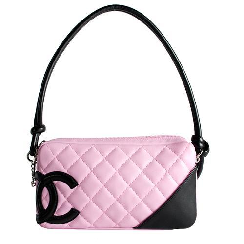 Chanel Ligne Cambon Pochette Shoulder Handbag