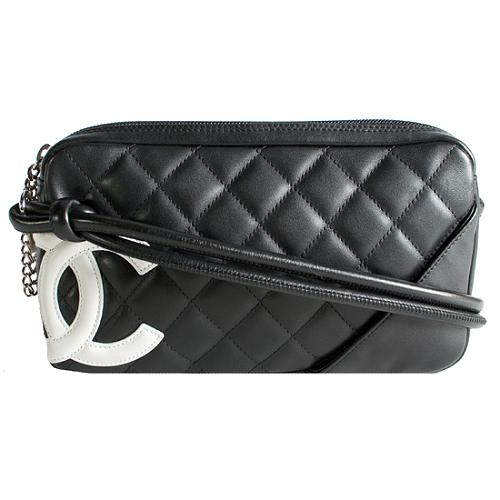 Chanel Ligne Cambon Pochette Shoulder Handbag