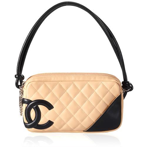 Chanel Ligne Cambon Quilted Pochette Handbag