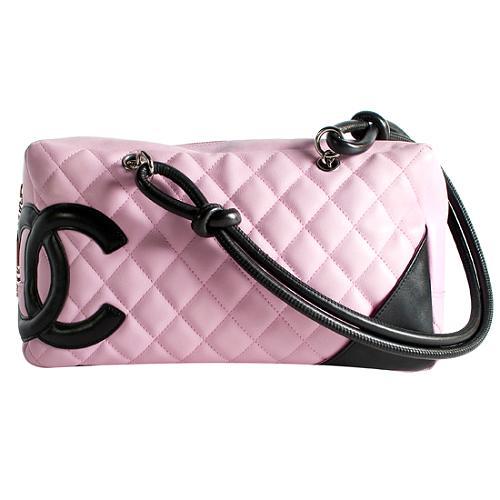 Chanel Ligne Cambon Quilted Shopper Satchel Handbag