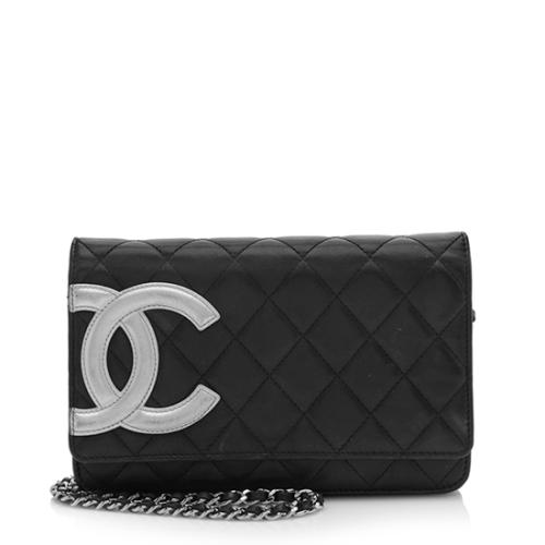 Chanel Quilted Lambskin Ligne Cambon Wallet on Chain Bag