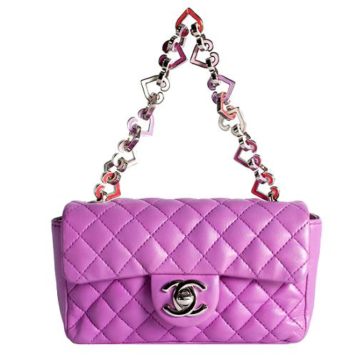 Chanel Limited Edition Valentine Small Flap Shoulder Handbag