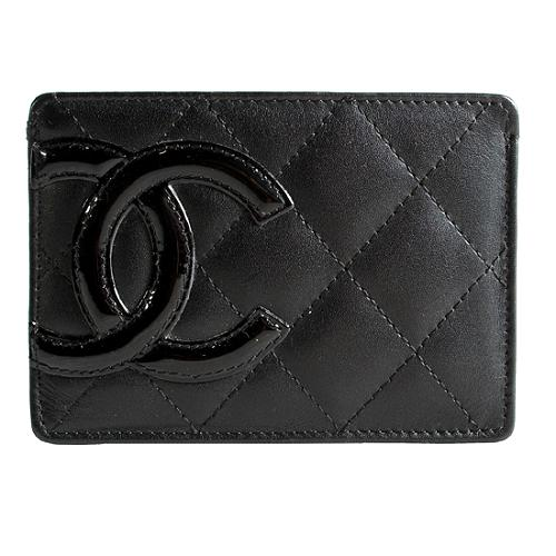 Chanel Linge Cambon Quilted Leather Credit Card Holder