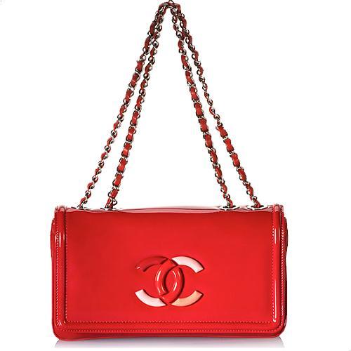 Chanel Lipstick Patent Leather Flap Handbag