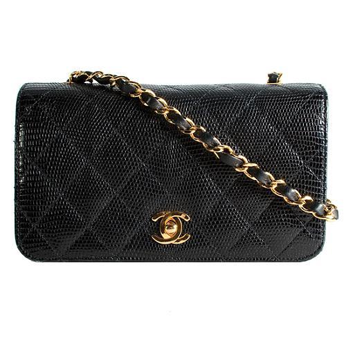 Chanel Lizard 2.55 Classic Small Flap Shoulder Handbag