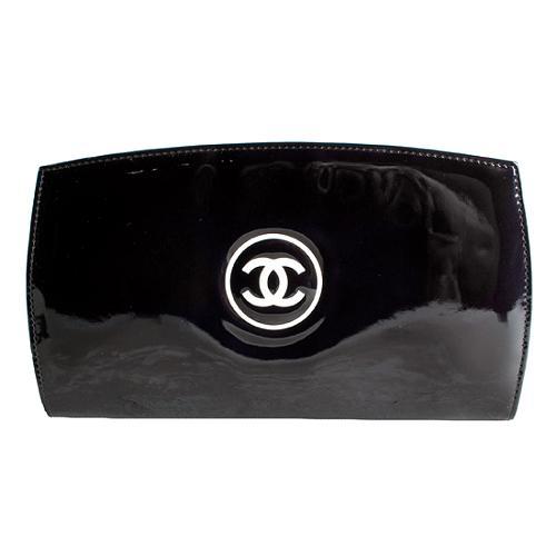 Chanel Long Zipped Patent Calfskin Wallet
