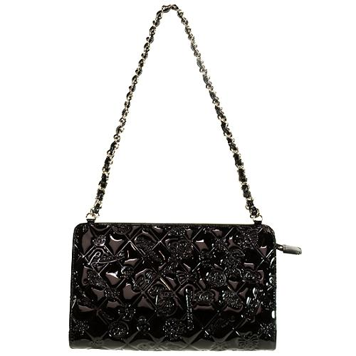 Chanel Lucky Symbols Embossed Patent Leather Evening Handbag