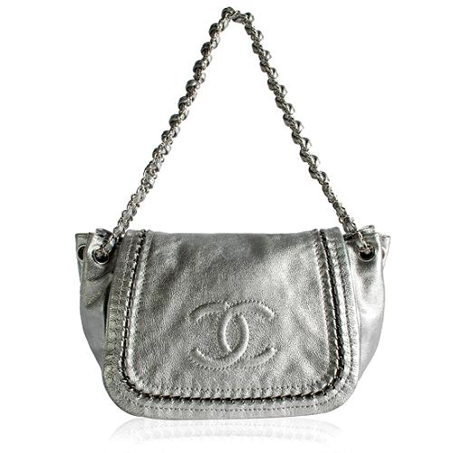 Chanel Luxe Metallic Accordion Flap Shoulder Handbag