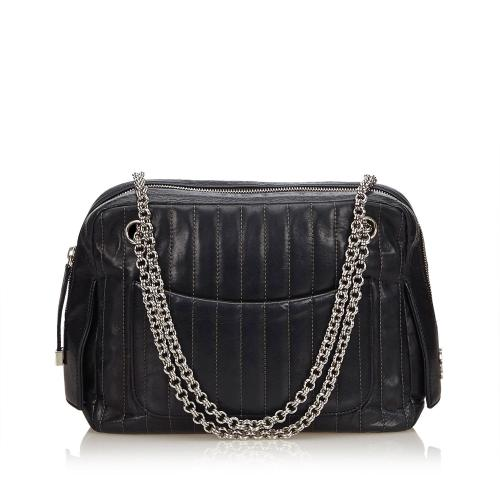 Chanel Mademoiselle Leather Chain Shoulder Bag