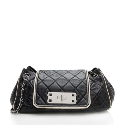 Chanel Mademoiselle Lock East West Accordion Shoulder Bag