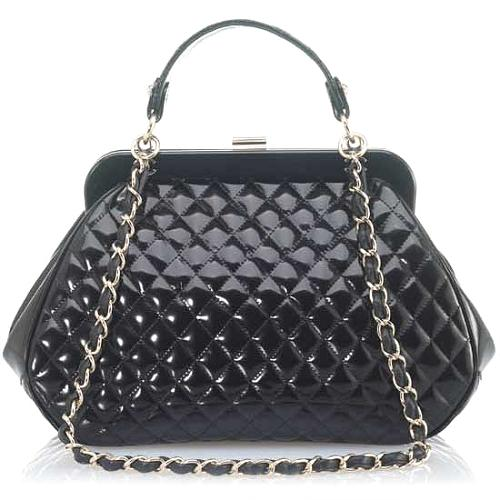 Chanel Mademoiselle Quilted Framed Evening Bag