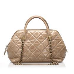 Chanel Matelasse Lambskin Leather Satchel