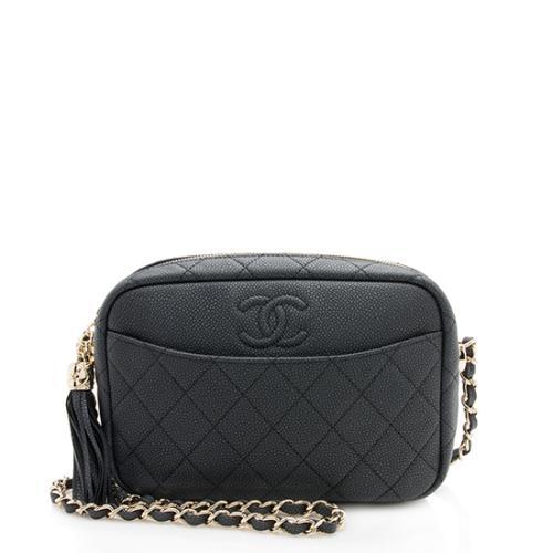 Chanel Matte Caviar Leather Coco Tassel Camera Bag