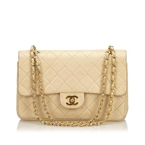 Chanel Medium Lambskin Double Flap Chain Bag