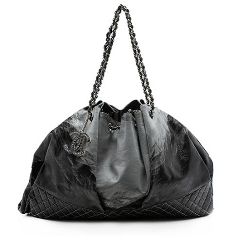 Chanel Melrose Patent Vinyl Degrade Cabas Tote