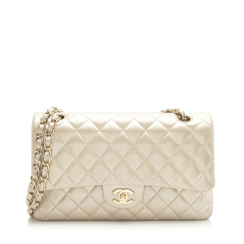 Chanel Metallic Calfskin Classic Medium Double Flap Bag