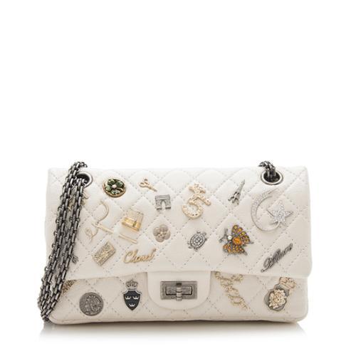 Chanel Metallic Calfskin Lucky Charms 2.55 Reissue Double Flap Bag