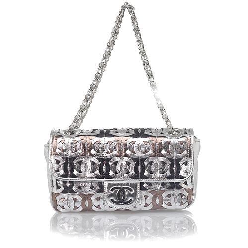Chanel Metallic Crackled Shoulder Bag