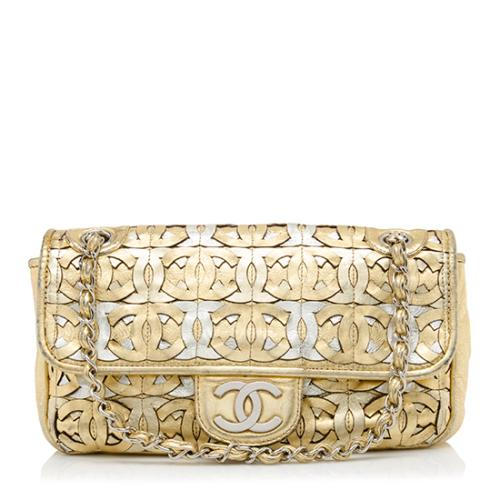 Chanel Metallic Woven CC Shoulder Bag