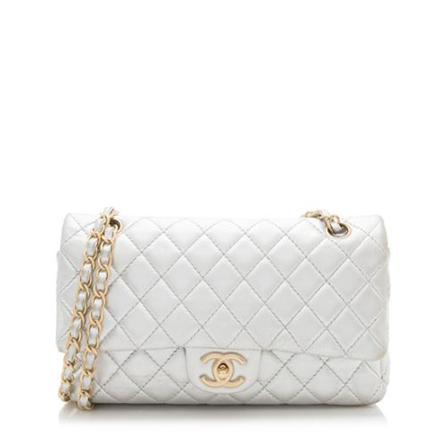 Chanel Metallic Lambskin Classic Medium Double Flap Bag