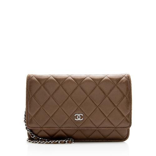 Chanel Metallic Lambskin Classic Wallet on Chain Bag