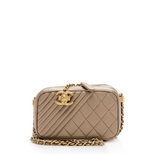 Chanel Metallic Lambskin Coco Camera Mini Shoulder Bag