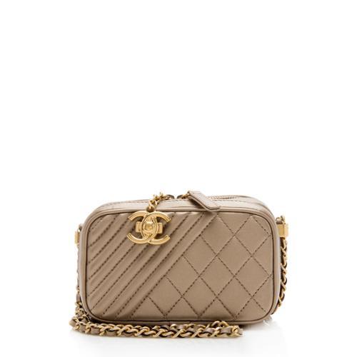 Chanel Metallic Lambskin Coco Camera Mini Shoulder Bag
