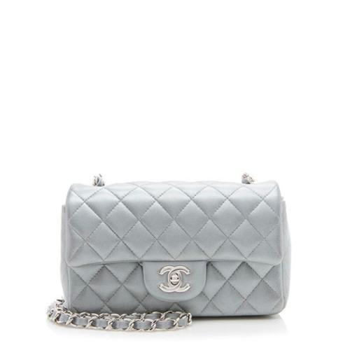 Chanel Metallic Lambskin Rectangular Mini Flap Bag