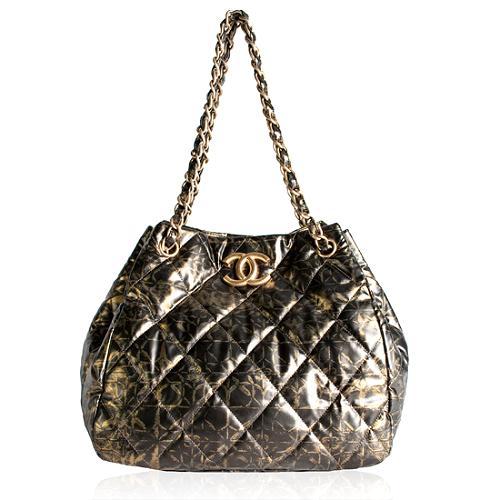 Chanel Metallic Quilted Shoulder Handbag