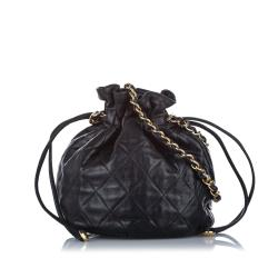 Chanel Mini Classic Lambskin Leather Bucket Bag