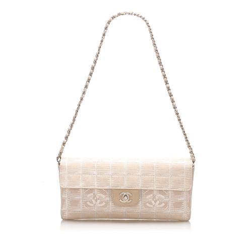 Chanel New Travel Line East West Nylon Flap Bag