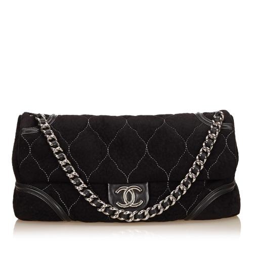 Chanel Nubuck Leather Flap Bag