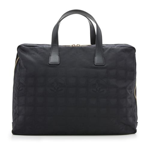 Chanel Nylon Travel Line Zip Around Briefcase