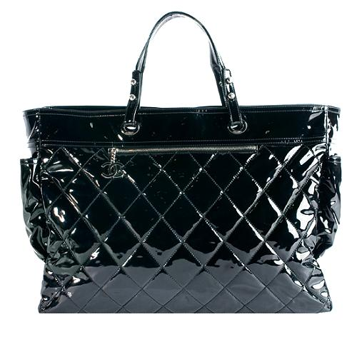 Chanel Paris Biarritz Limited Edition XL Patent Tote