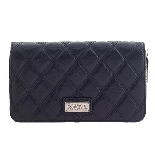 Chanel Paris New York Zip Around Wallet