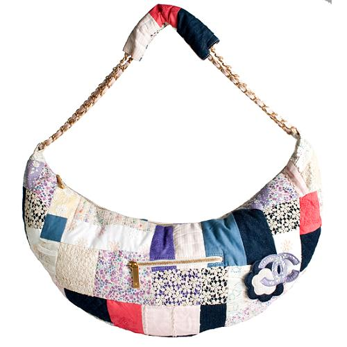 Chanel Patchwork Quilted Hobo Handbag