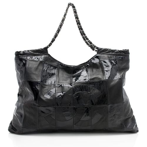 Chanel Patent Leather Brooklyn Ligne Cabas Tote