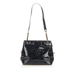 Chanel Patent Leather Chain Shoulder Bag