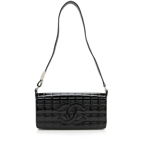 Chanel Patent Leather Chocolate Bar Shoulder Bag